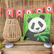 Panda-Themed Painting Party