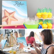 Beach-Themed Painting Party